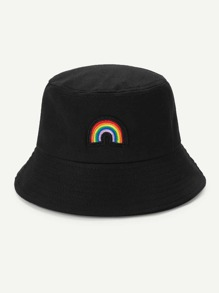 Embroidered Rainbow Bucket Hat