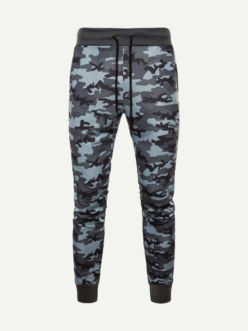 photos officielles 5a2a1 54604 Homme Pantalon imprimé camouflage avec cordon