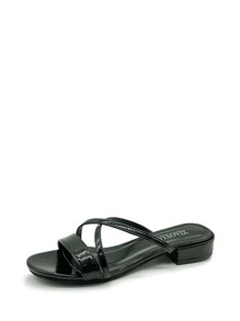 Open Toe Cross Strap Sandals