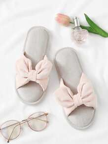 Open Toe Knot Design Flat Slippers