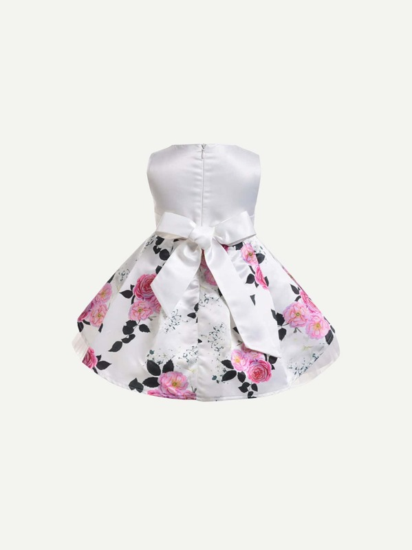 583ca2b36e Cheap Toddler Girls Floral Print Bow Back Ball Gown Dress for sale Australia  | SHEIN