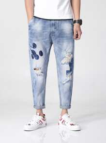 Men Loose Fit Harlem Jeans