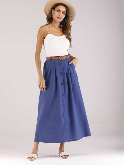 d84e0c4a410efb Skirts | Maxi skirts, denim skirts, pencil skirts |SHEIN IN
