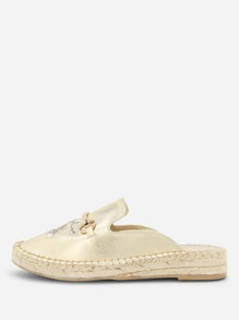 Flower Embroidery Flat Espadrilles