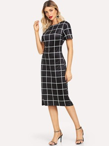 Checked Skinny Dress