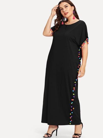 bc9e41199 فستان تطريز كرات قطنية جميل | شي إن
