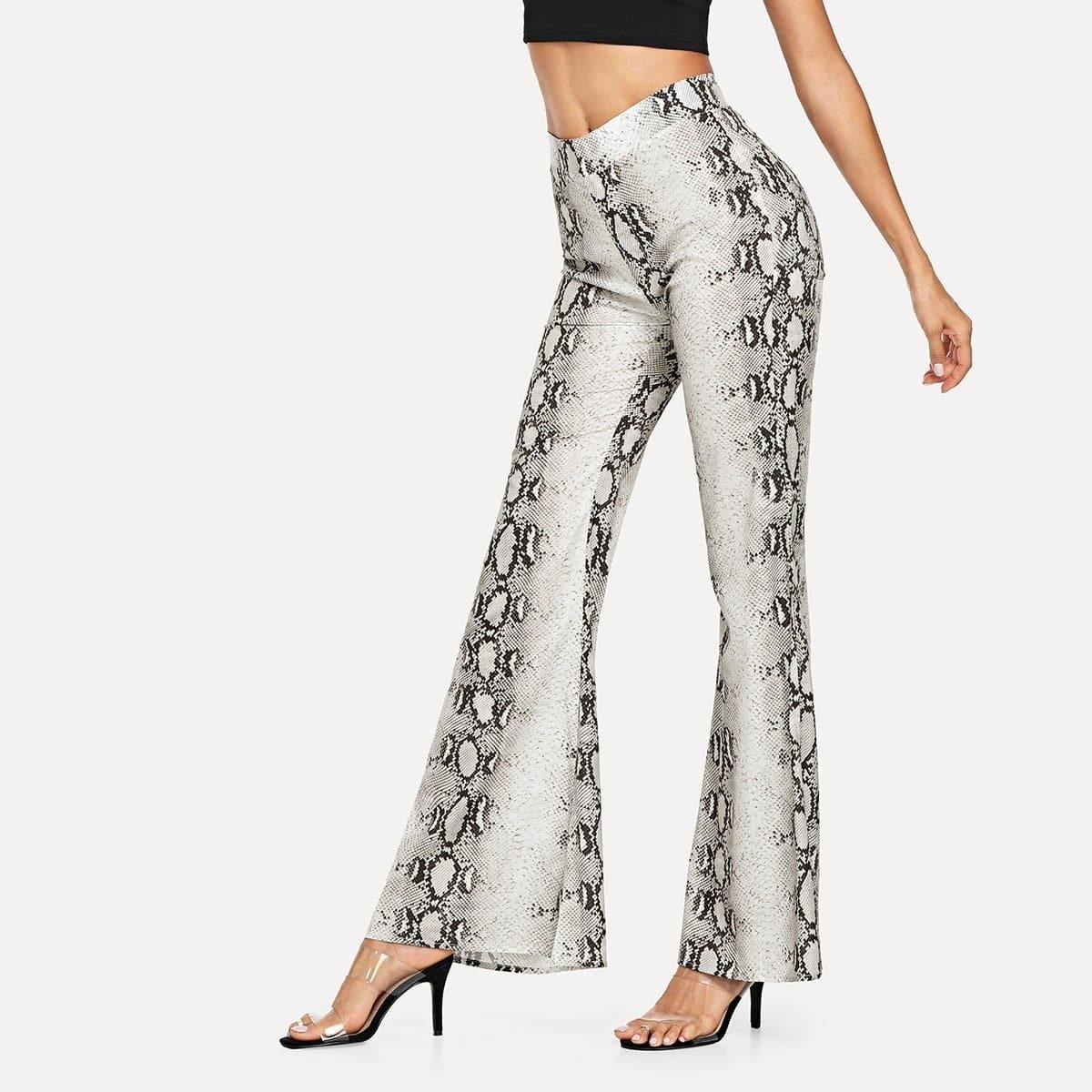 - Snake Skin Wide Leg Pants