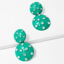 Tiered Round Drop Earrings