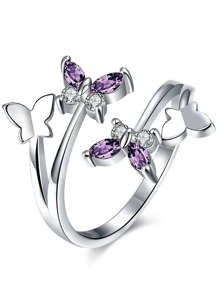 Butterfly Detail Cuff Ring