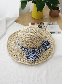Porcelain Band Design Woven Hat