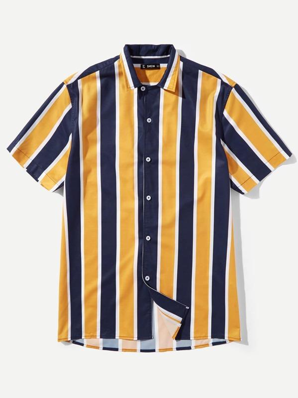 d74262d3f2fb Cheap Men Color Block Shirt for sale Australia | SHEIN