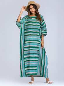 Colorblock Stripe Longline Dress