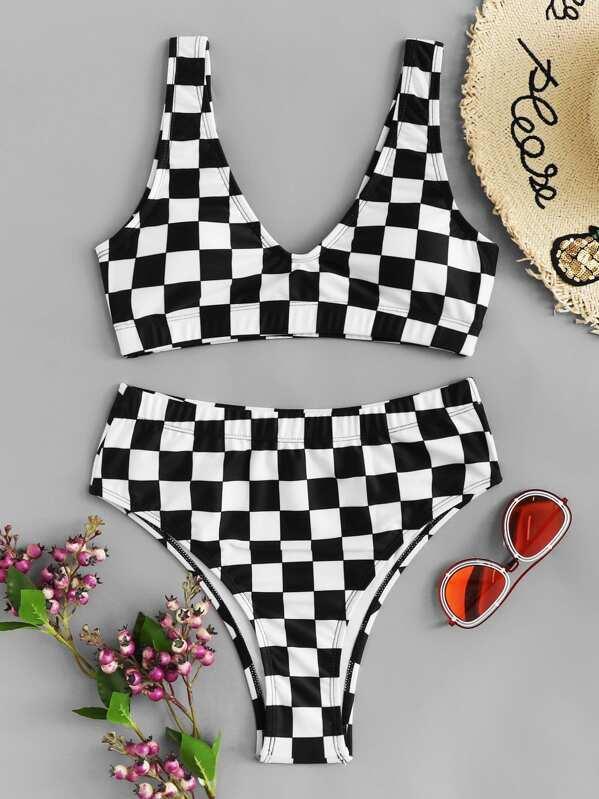 9be98c75ef Cheap Checkered Pattern Bikini Set for sale Australia   SHEIN