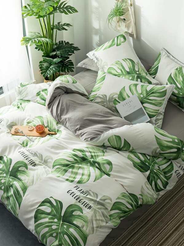 Bettwäsche Set Mit Aufdruck Shein