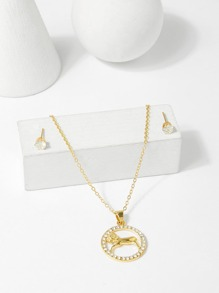Aries Pendant Necklace & Earrings Set