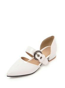 Pointed Toe Buckle Strap Flats