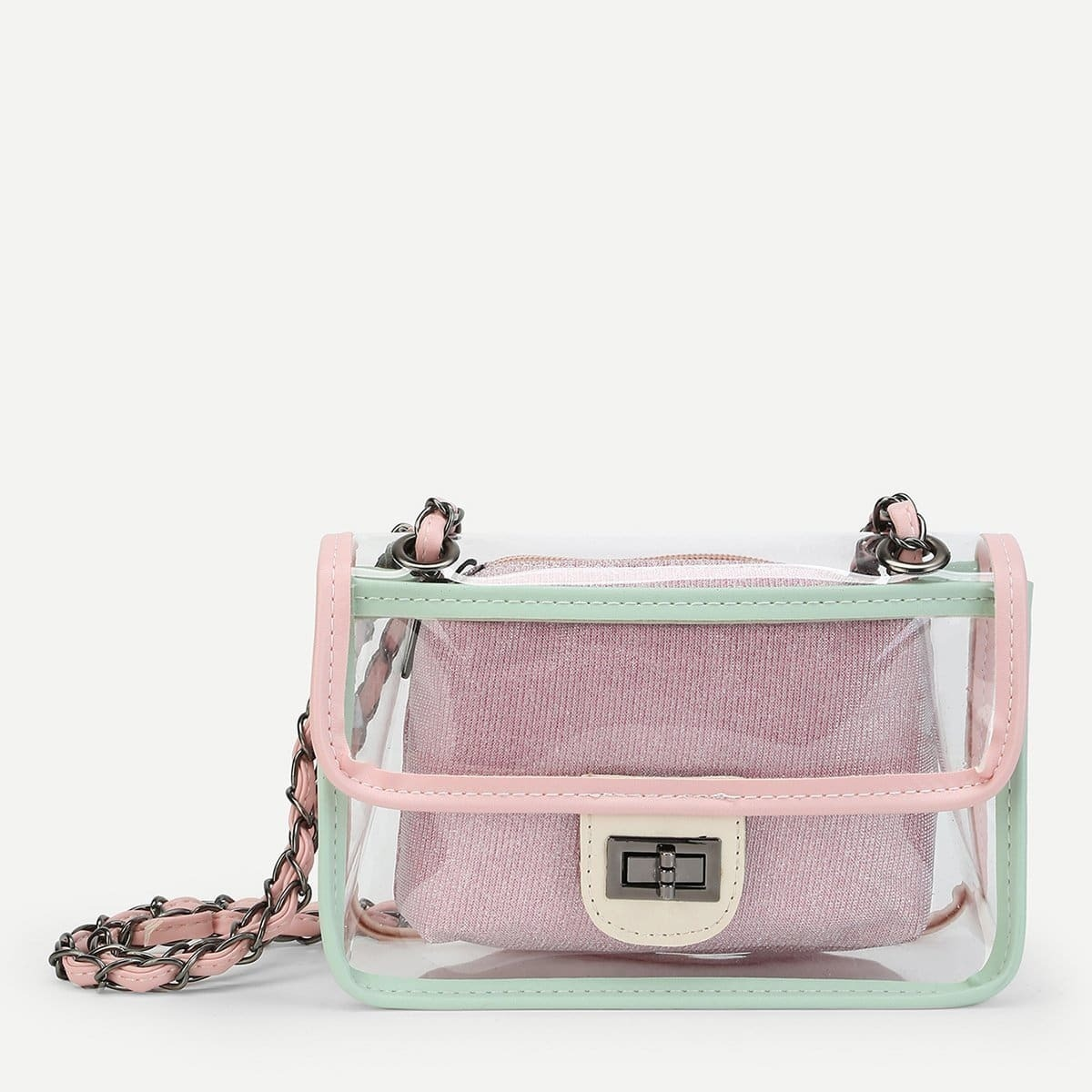 - Clear PVC Bag With Inner Pouch