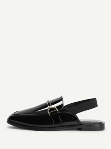 Slingback Patent Leather Loafers