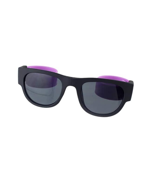 76f33b579b Gafas de sol cuadradas plegables coloridas de la moda púrpura con la caja  libre de los vidrios | SHEIN ES