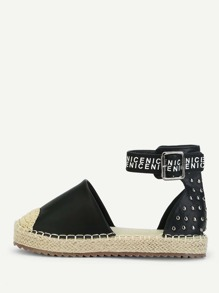 Stud Decorated Espadrille Flats