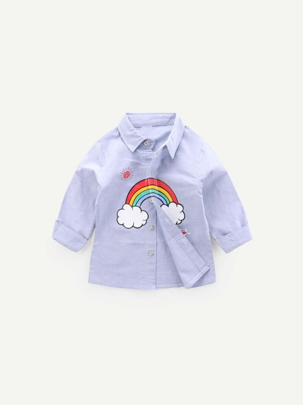 b815913e4 Toddler Boys Rainbow Print Shirt | SHEIN