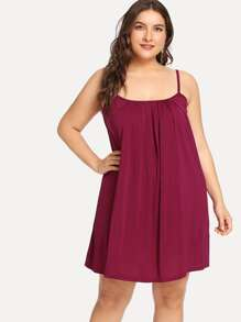 Plus Solid Cami Dress