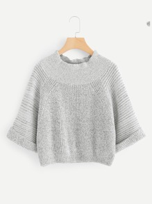 Rolled Cuff Raglan Sleeve Jumper