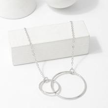 Link Circle Pendant Necklace