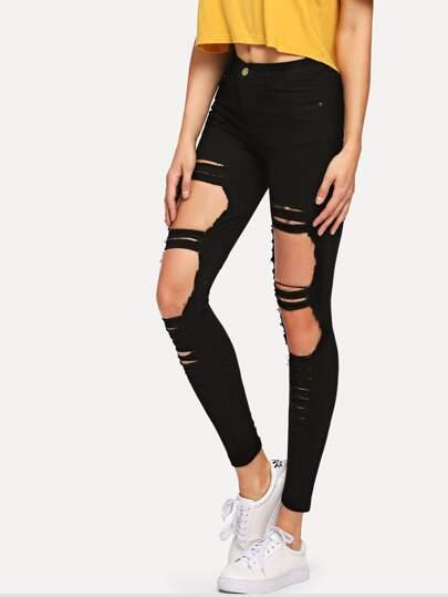 3dfbd0df0ed Women's Jeans|Jean shorts & Ripped jeans|Best Selling Jeans | ROMWE