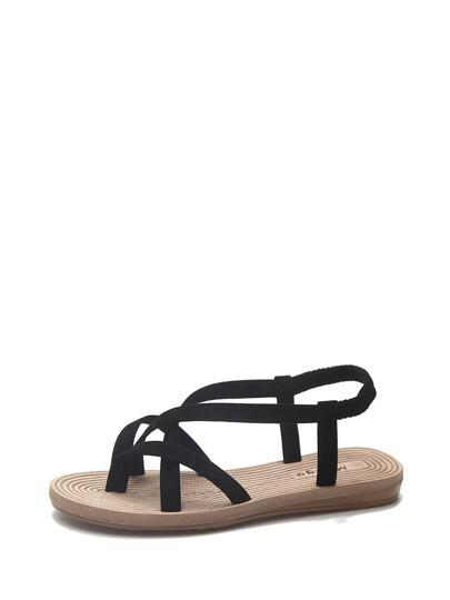 2d726c4b1f160 Criss Cross Strap Flat Sandals