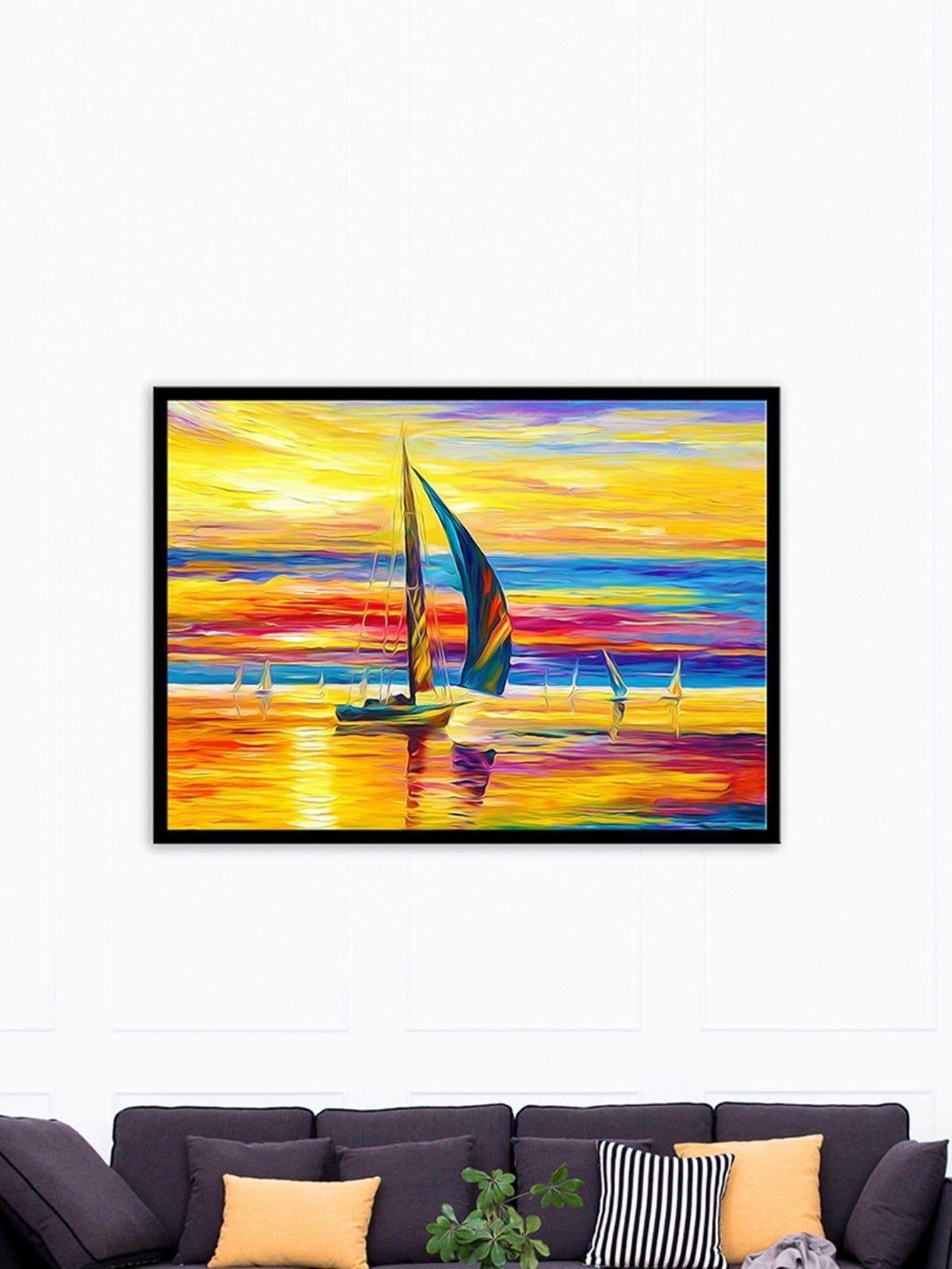 Landscape Painting Cloth Wall ArtFor Women-romwe