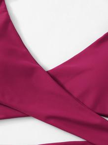 8cc7e7958c Cheap Criss Cross Wrap Halter Bikini Top for sale Australia | SHEIN