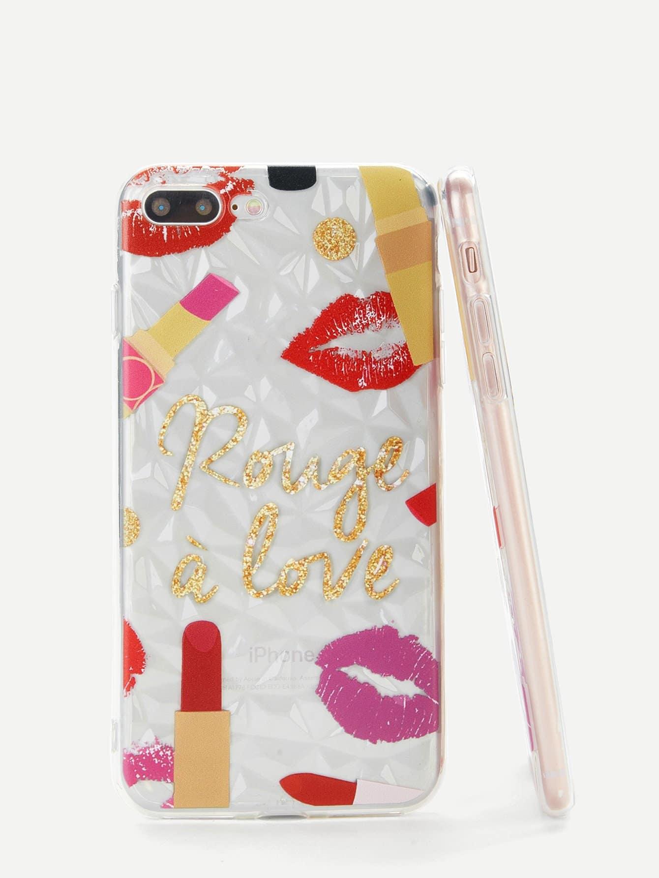 cbf8d0ac0d Lip & Lipstick iPhone Case | SHEIN