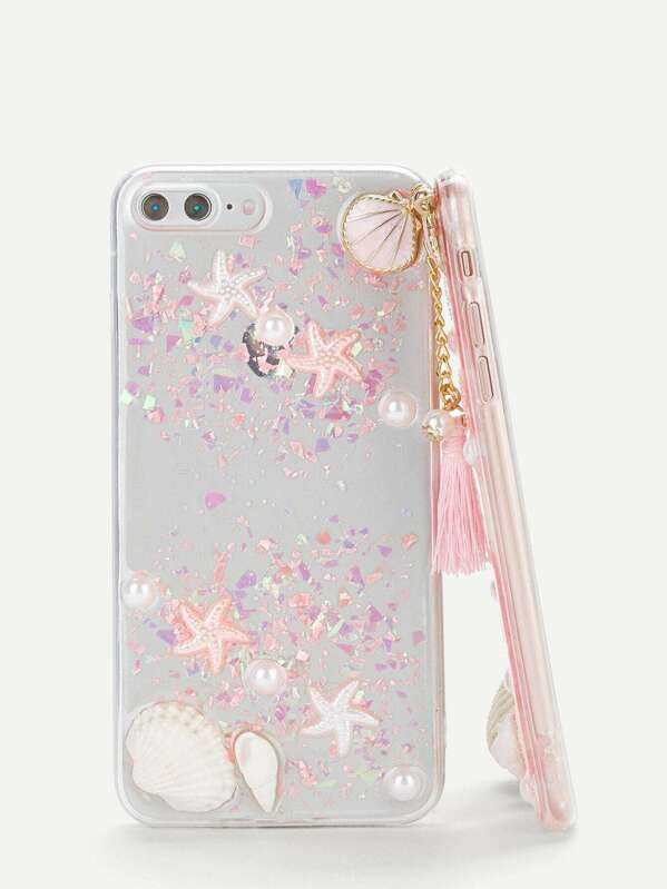 2ac448f34d Shell & Tassel Pendant iPhone Case | SHEIN
