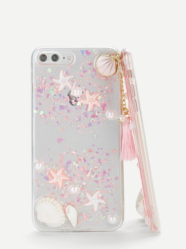 bc80c14e27 Shell & Tassel Pendant iPhone Case | SHEIN IN