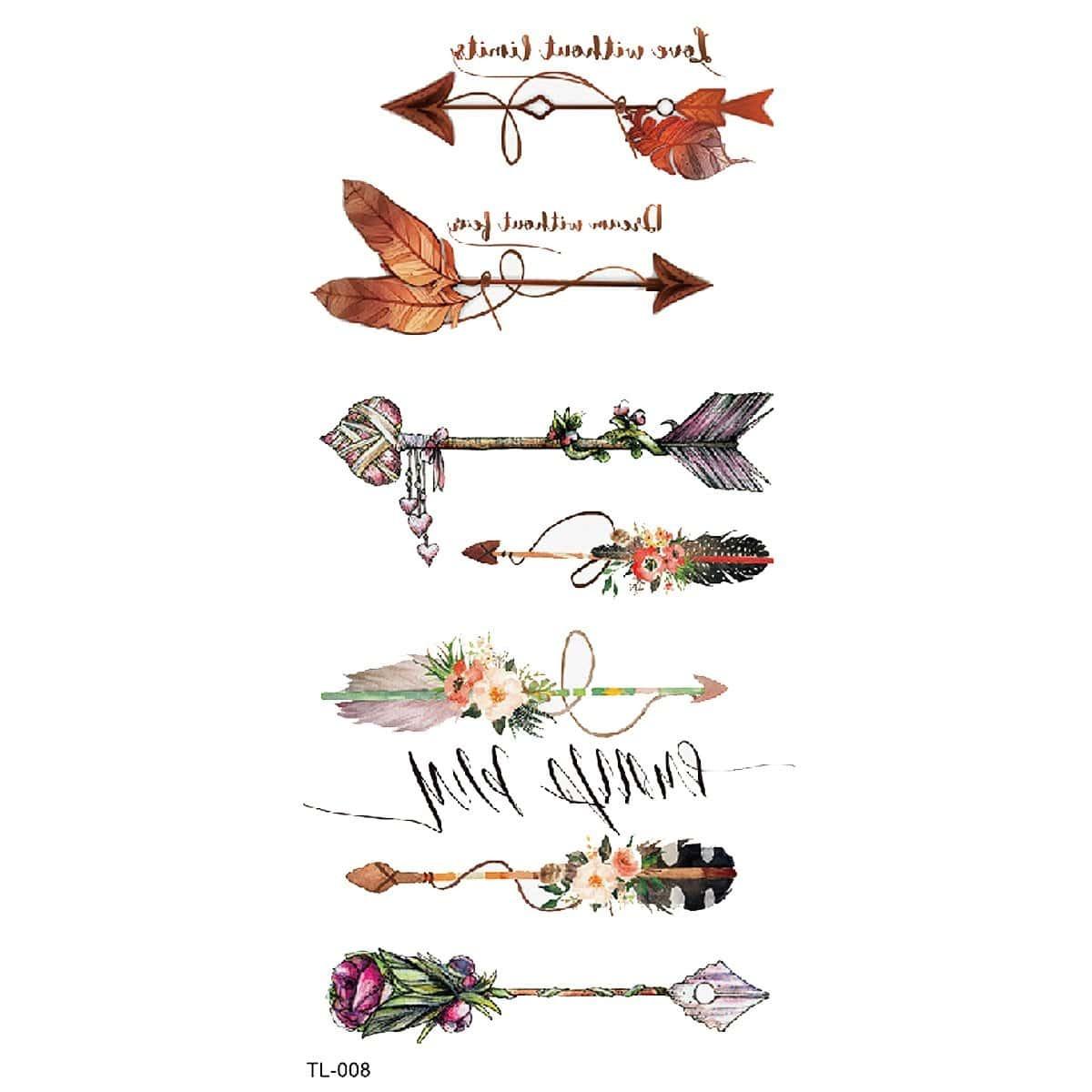 Татуировки с рисунками стрелк