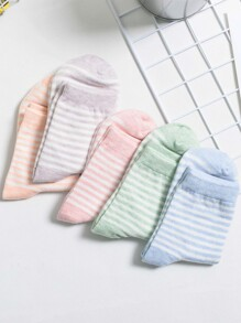 Strip Pattern Socks 5pairs