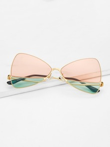 Two Tone Lens Sunglasses