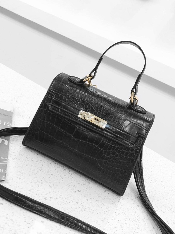 09b9665e66 Croc Embossed Grab Bag | SHEIN IN