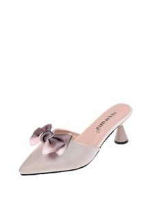 Bow Decor Pointed Toe Mules
