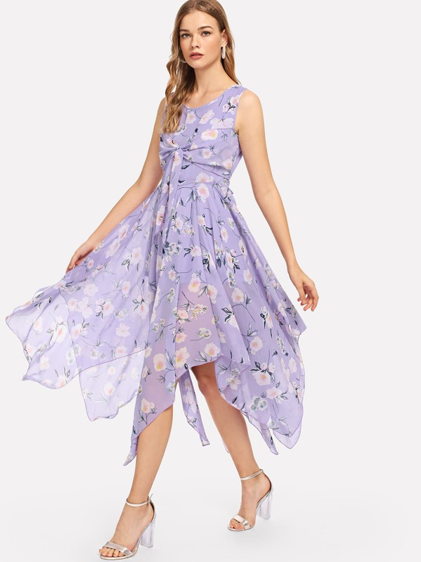 7ce0b133785 Calico Print Tiered Ruffle Dress