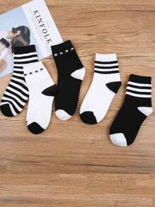 Striped Ankle Socks 5pairs