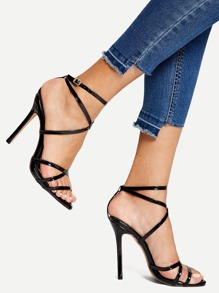Strappy Stiletto Heels