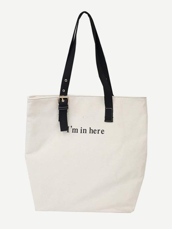 27cc7ae546 Eyelet Decor Canvas Tote Bag | SHEIN