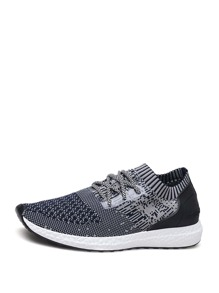 Men Lace Up Mesh Sneakers