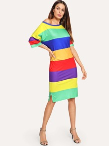 Striped Colorblock Dress