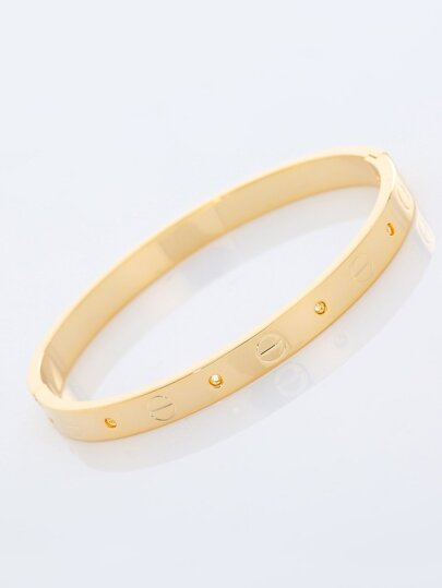 Circle Engraved Bangle 1pc