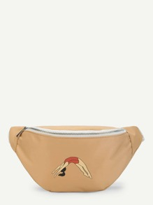 Figure Print Bum Bag