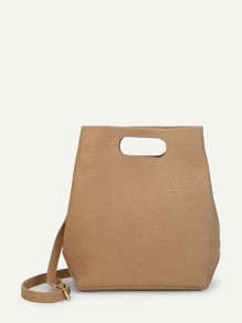 Cut Out Handle Bag With Clutch