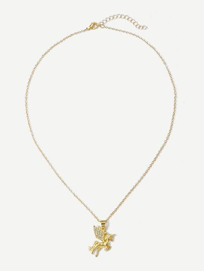 Unicorn pendant chain necklacefor women romwe home jewelry necklaces unicorn pendant chain necklace mozeypictures Gallery